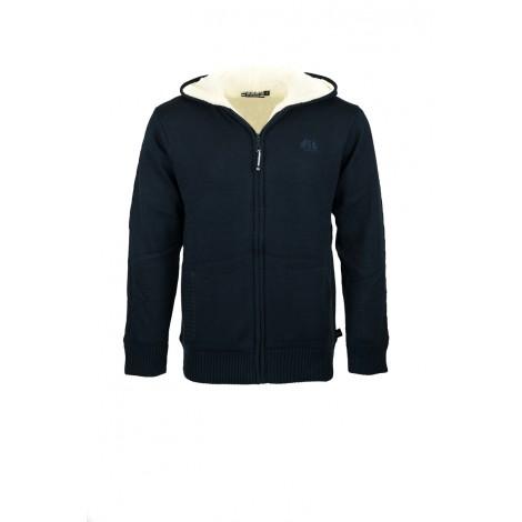 MARTINENF-Veste zipée doublée sherpa-MARINE