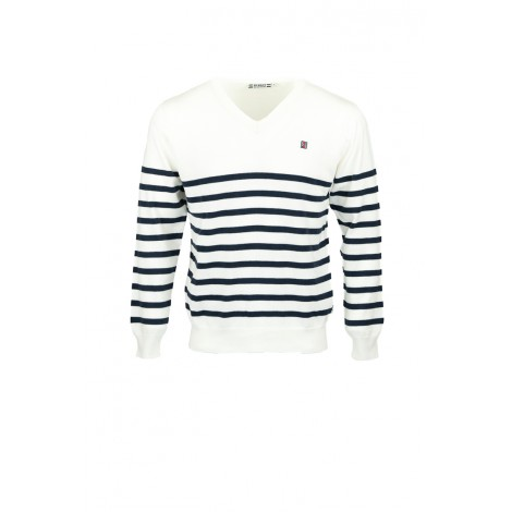 VOILIER PULL HOMME COL V