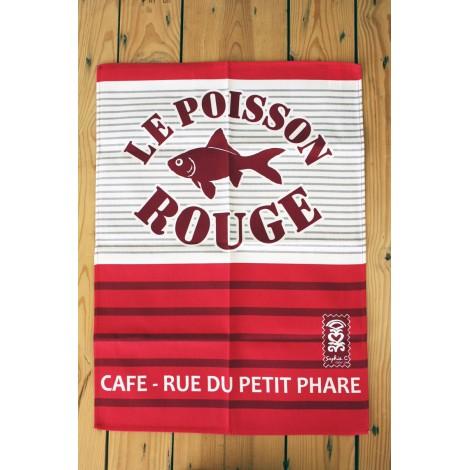 TORCHON SOPHIE C - Le poisson rouge